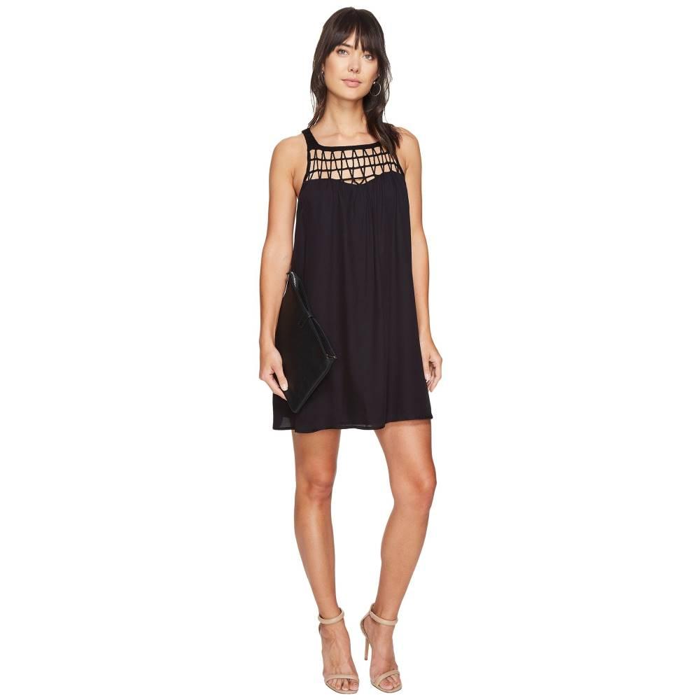 ダコタ レディース ワンピース・ドレス ワンピース【Astor Crochet Yoke Shift Dress】Black