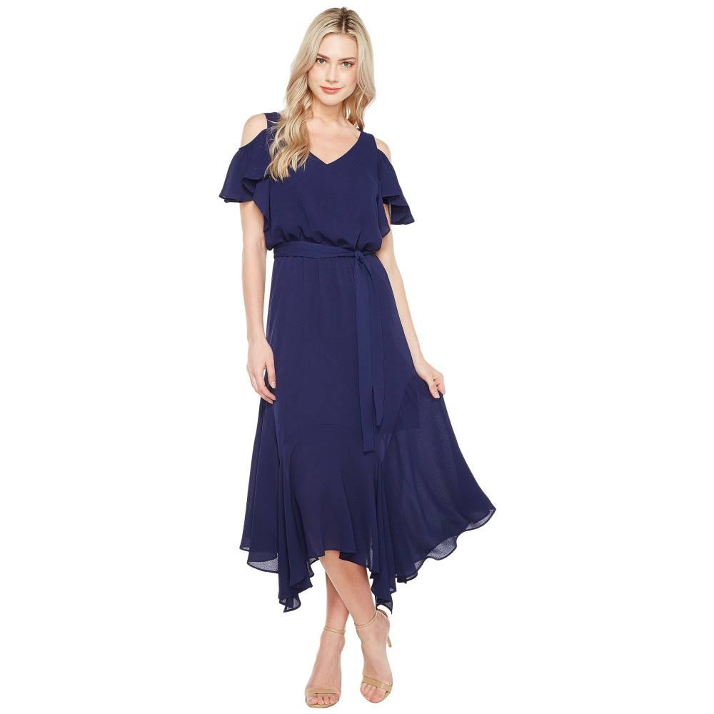 マギーロンドン レディース ワンピース・ドレス ワンピース【Cold-Shoulder Blouson Dress】Dark Navy