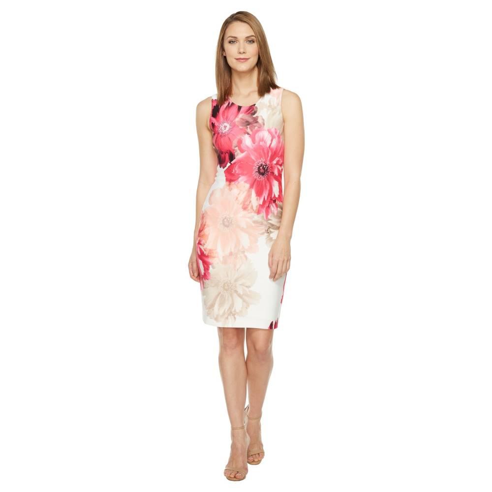 カルバンクライン レディース ワンピース・ドレス ワンピース【Printed Sheath Dress】Rose Multi