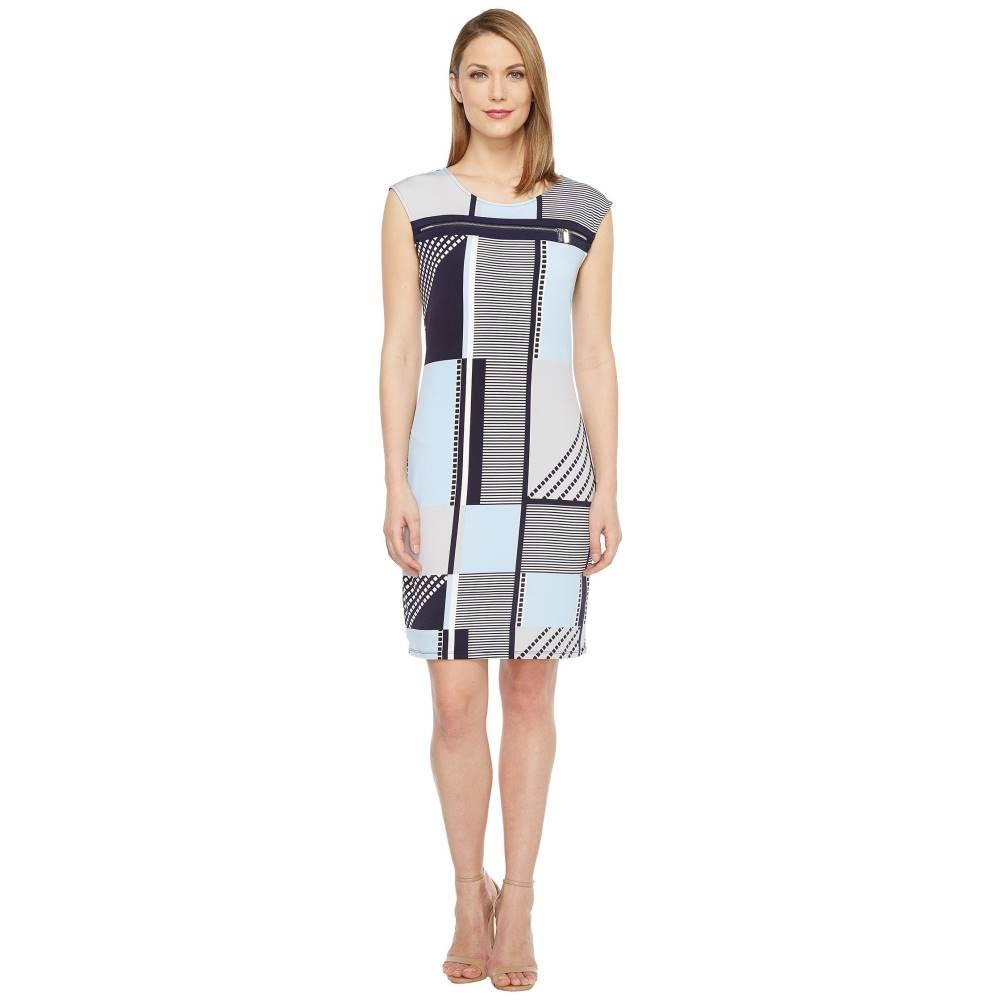カルバンクライン レディース ワンピース・ドレス ワンピース【All Over Print Zipper Dress】Twilight Multi