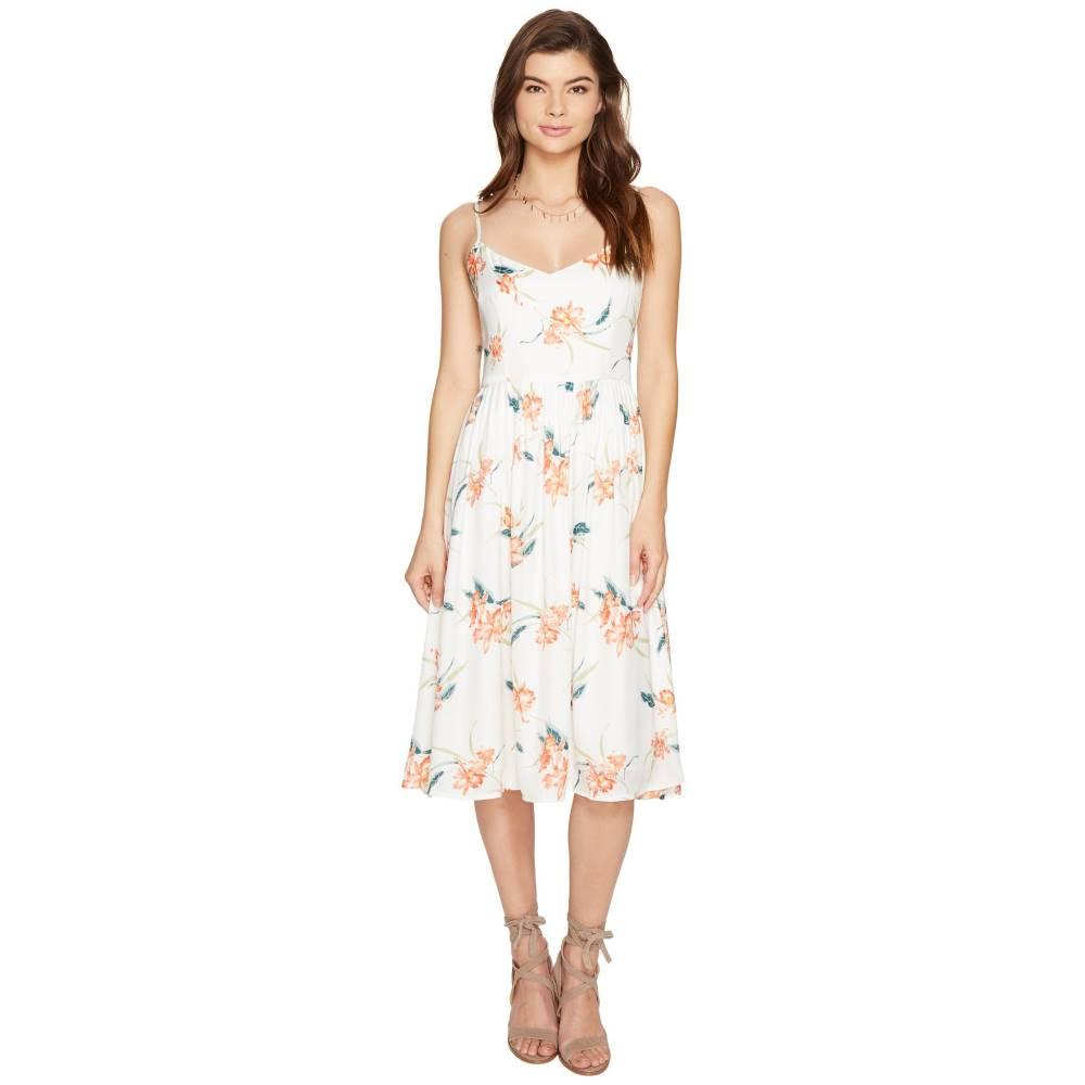 ダコタ レディース ワンピース・ドレス ワンピース【Lila Printed Midi Dress】Optic White