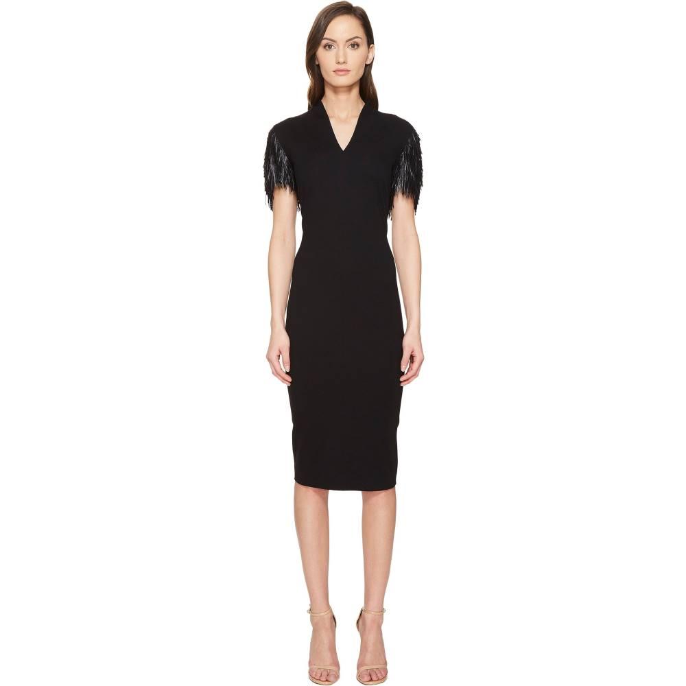 エスカーダ レディース ワンピース・ドレス ワンピース【Delecto Feathered Short Sleeve Dress】Black