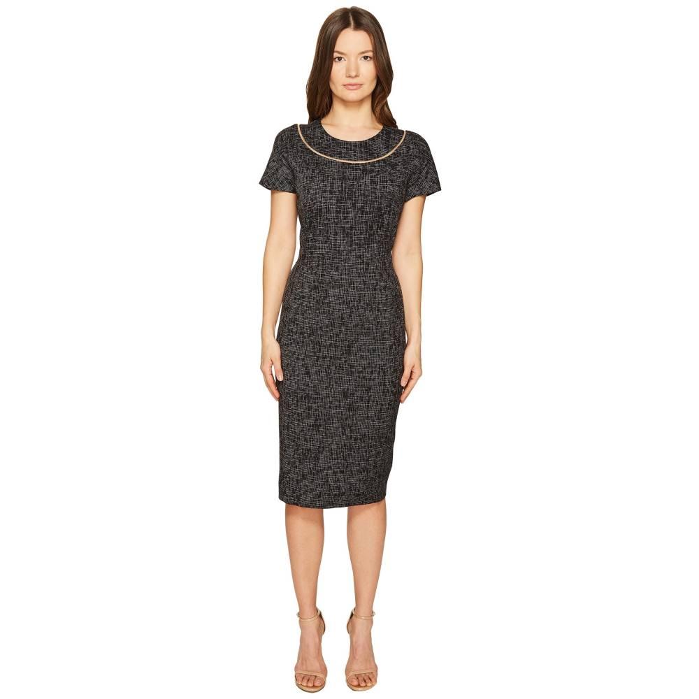 エスカーダ レディース ワンピース・ドレス ワンピース【Dsill Short Sleeve Fitted Dress】Black