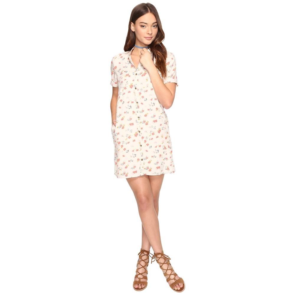 ヴァンズ レディース ワンピース・ドレス ワンピース【Mean Streets Dress】White Sand 70s Floral