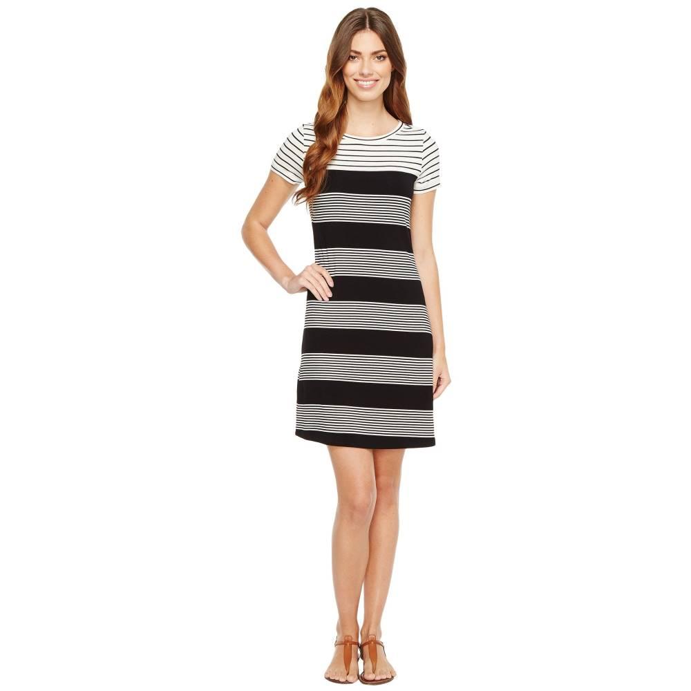 カルバンクライン レディース ワンピース・ドレス ワンピース【Striped T-Shirt Dress】Black/White Raf