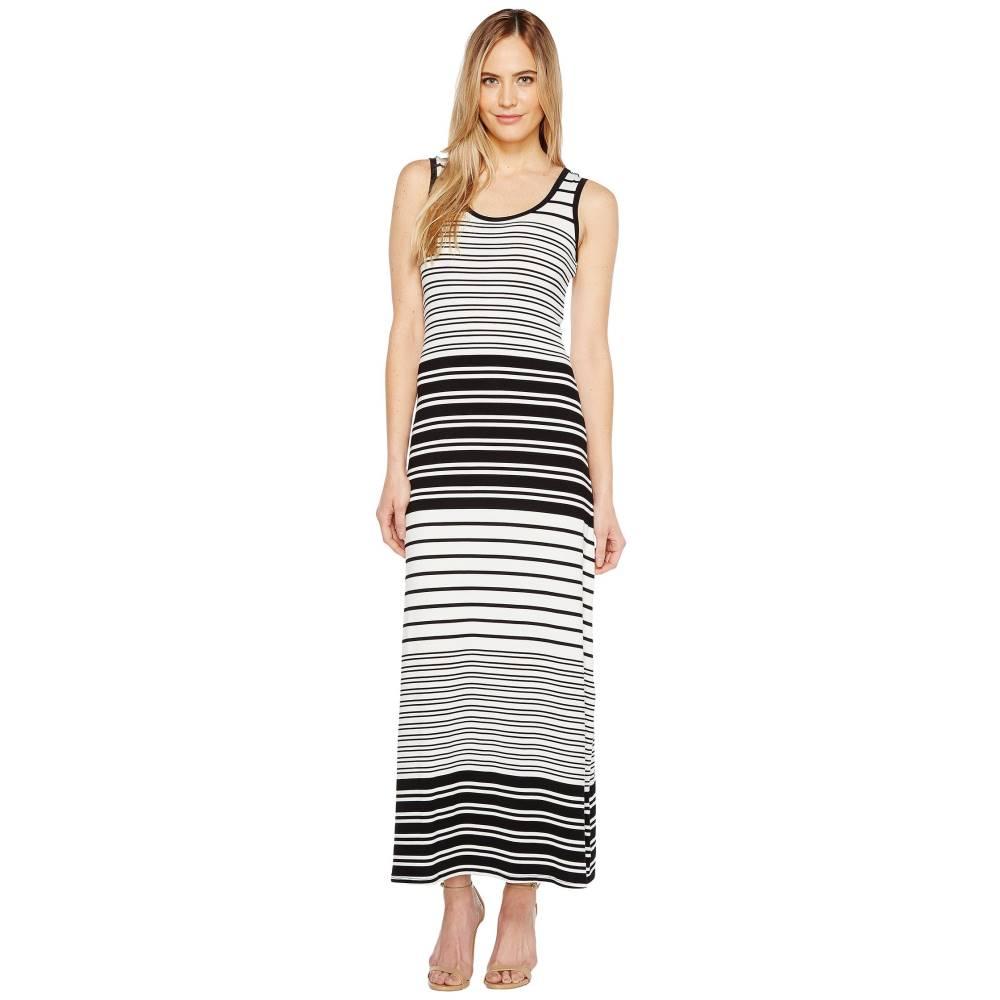 カルバンクライン レディース ワンピース・ドレス ワンピース【Sleeveless Stripe Maxi Dress】Black Combo