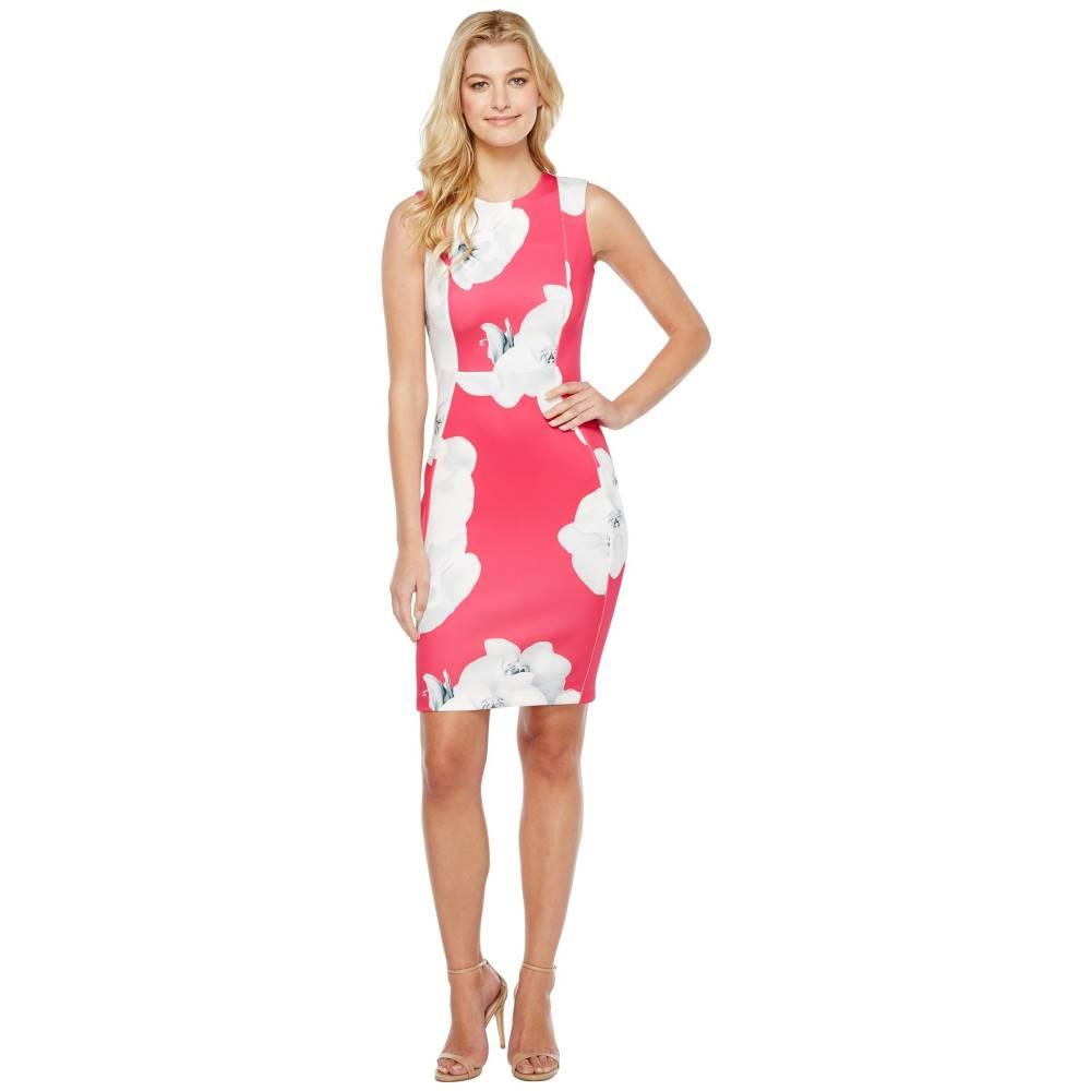 カルバンクライン レディース ワンピース・ドレス ワンピース【Floral Sheath Dress】Hibiscus Multi