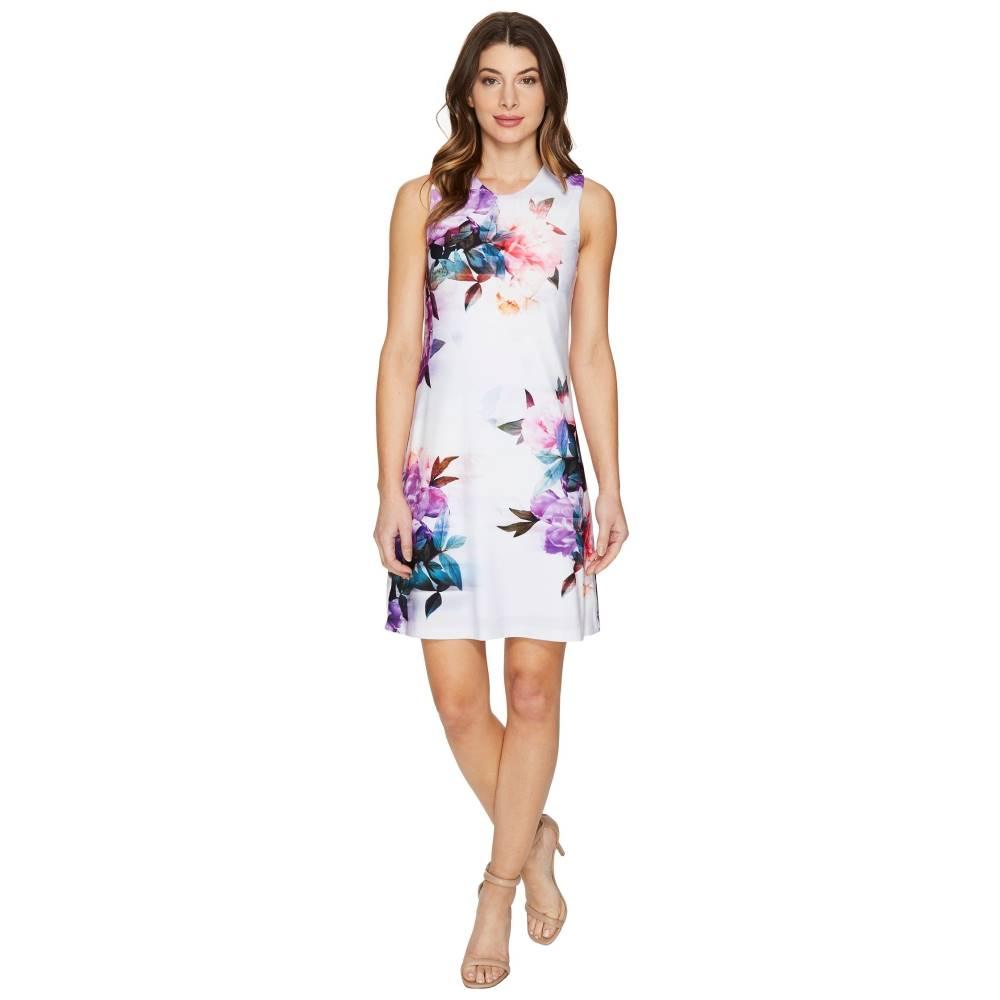 カルバンクライン レディース ワンピース・ドレス ワンピース【Sleeveless Floral Jersey Dress】Purple Multi