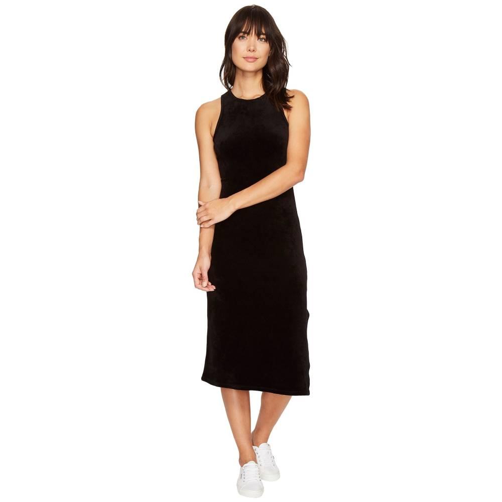 ジューシークチュール レディース ワンピース・ドレス ワンピース【Stretch Velour Fitted Tank Dress】Pitch Black