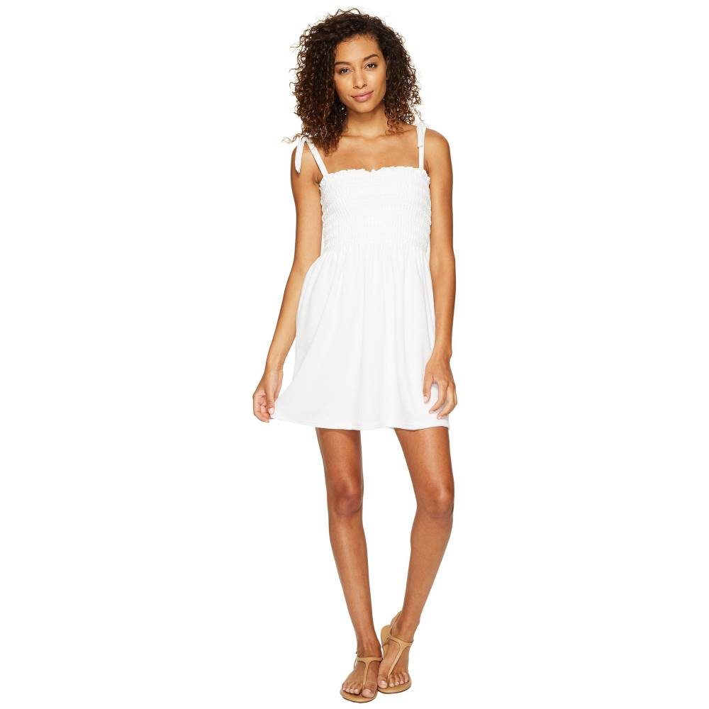 ジューシークチュール レディース ワンピース・ドレス ワンピース【Venice Beach Microterry Ruched Ties Dress】White