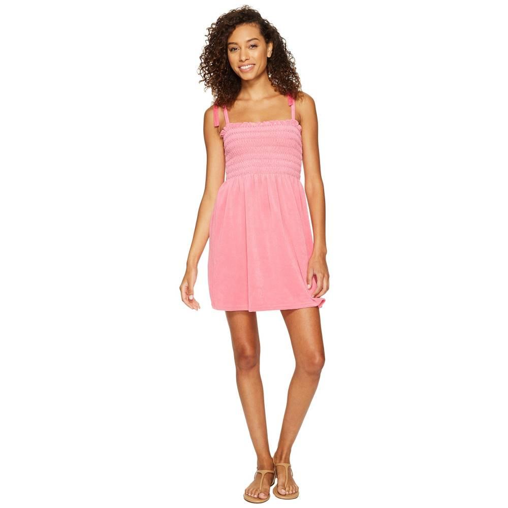 ジューシークチュール レディース ワンピース・ドレス ワンピース【Venice Beach Microterry Ruched Ties Dress】Precocious Pink