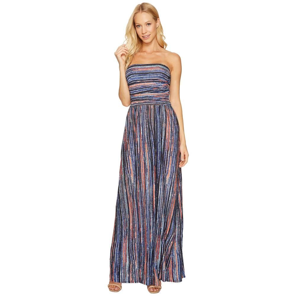 スリードッツ レディース ワンピース・ドレス ワンピース【Strapless Maxi Dress】Night Iris Combo