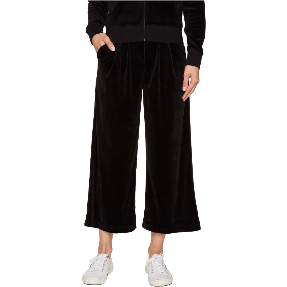 ジューシークチュール レディース ボトムス・パンツ クロップド【Lightweight Velour Cropped Wide Leg Trousers】Pitch Black