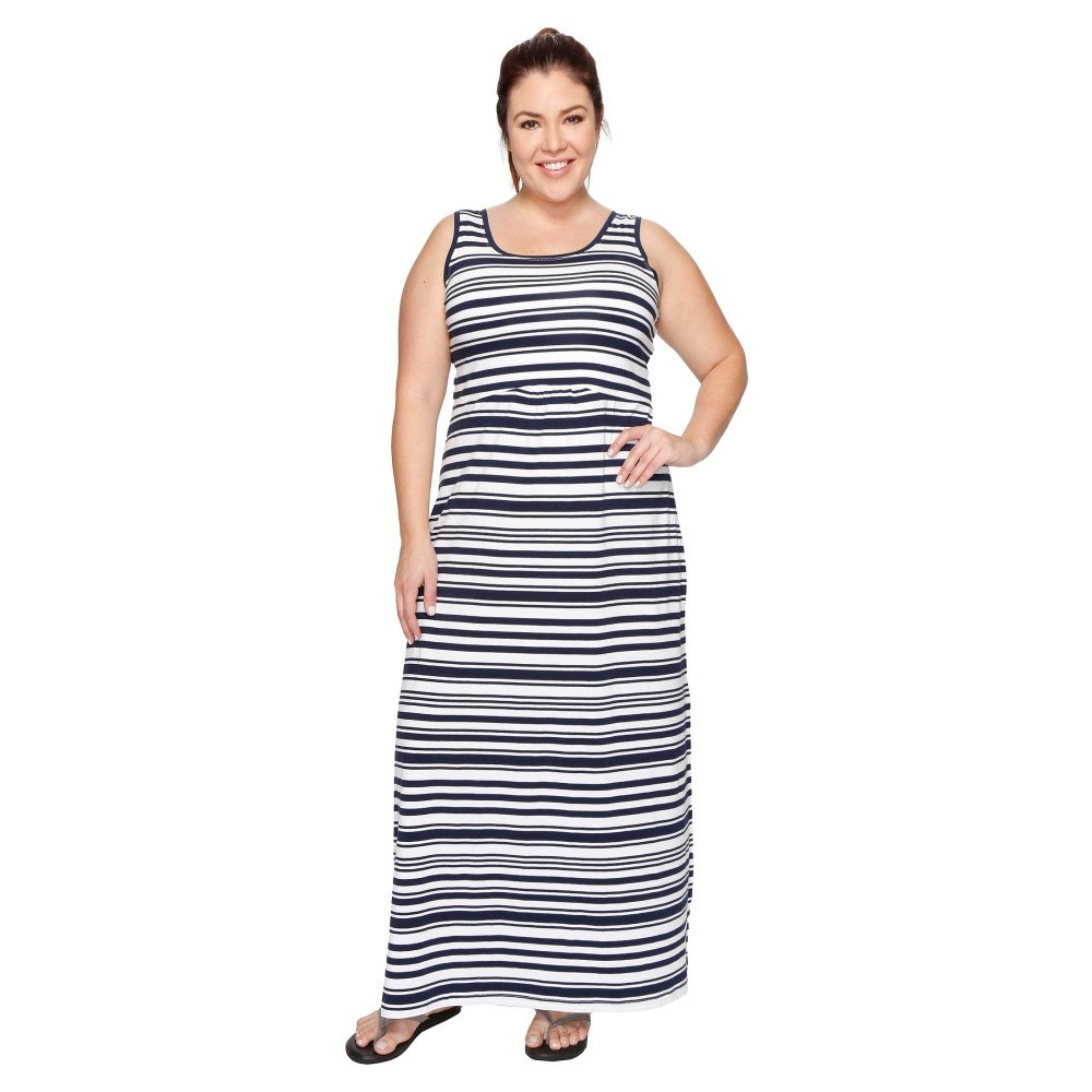 コロンビア レディース ワンピース・ドレス ワンピース【Plus Size Reel Beauty' II Maxi Dress】Collegiate Navy Variegated Stripe