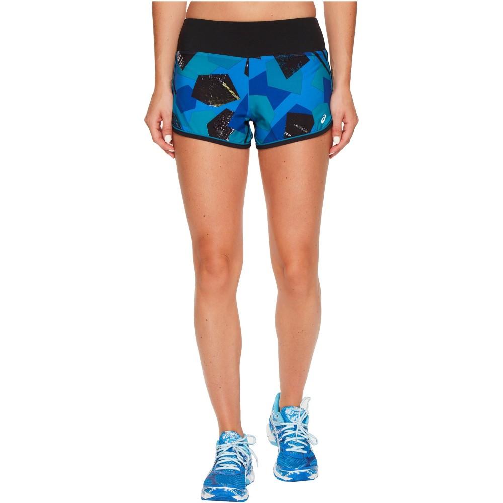 アシックス レディース ボトムス・パンツ ショートパンツ【Everysport Shorts】Regatta Blue Shape Collision