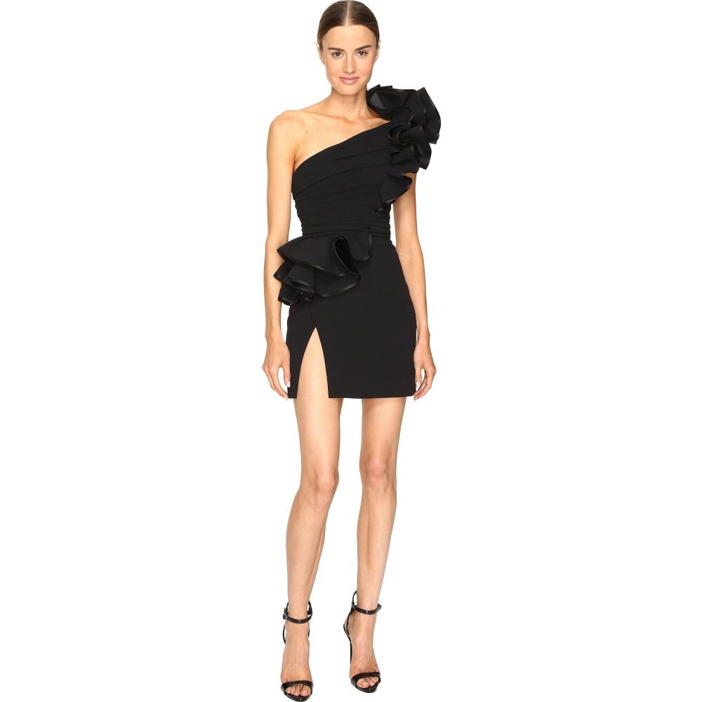 ディースクエアード レディース ワンピース・ドレス ワンピース【Colby One Shoulder High Ruffle Dress】Black