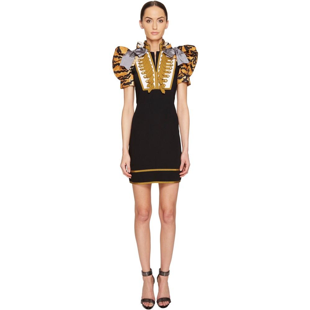 ディースクエアード レディース ワンピース・ドレス ワンピース【Tiger Puff Short Sleeves Mini Dress】Black