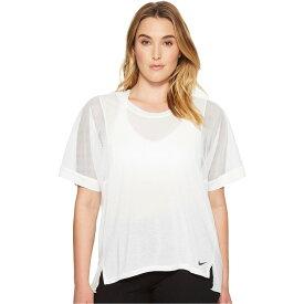 ナイキ レディース トップス 長袖Tシャツ【Breathe Training Top (Size 1X-3X)】White/White/Black