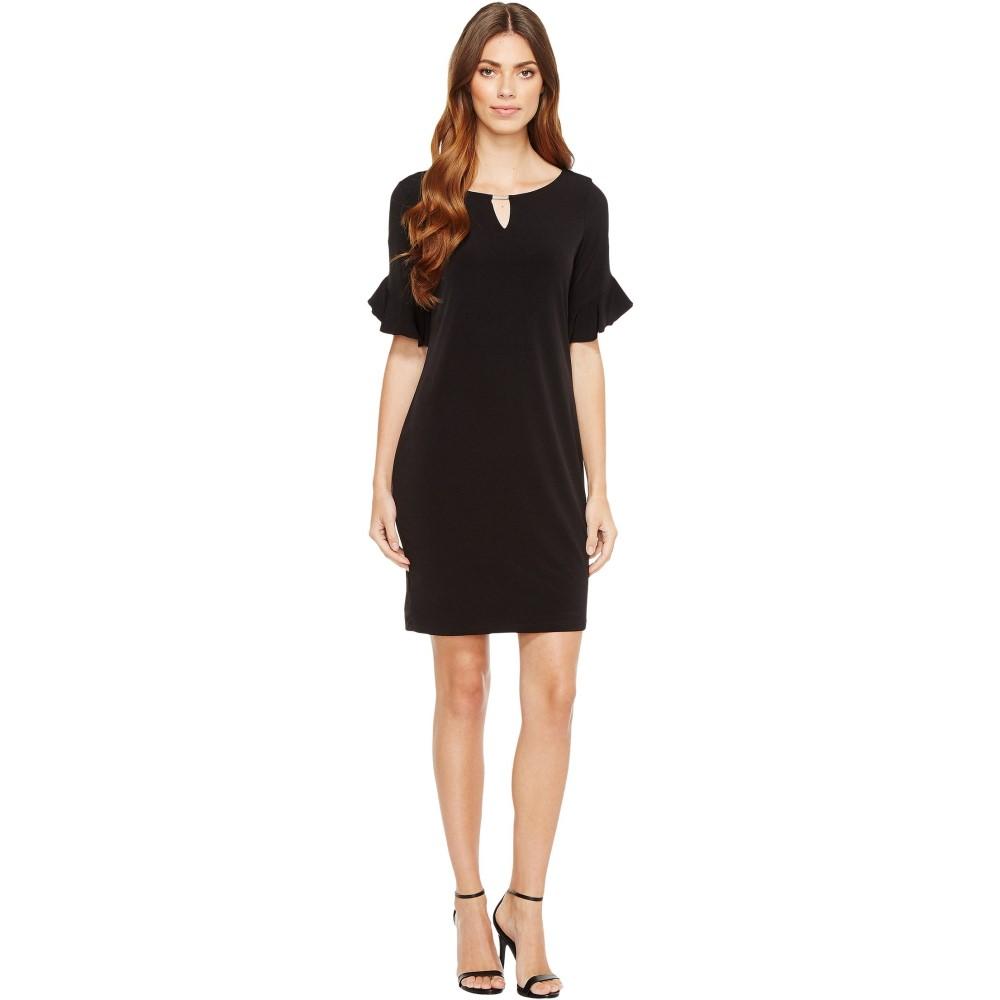 カルバンクライン レディース ワンピース・ドレス ワンピース【Ruffle Sleeve Dress with Hardware】Black