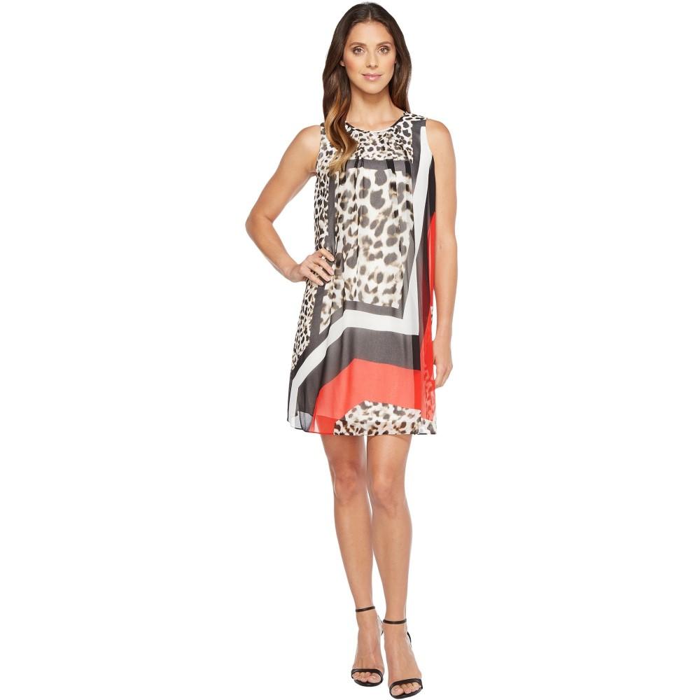 カルバンクライン レディース ワンピース・ドレス ワンピース【Printed A-line Dress】Leopard Combo