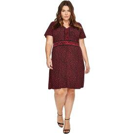 マイケル コース レディース ワンピース・ドレス ワンピース【Plus Size Cheetah Cat Border Dress】Raspberry