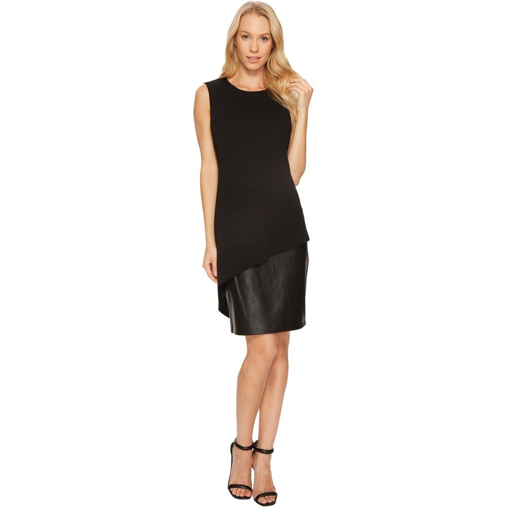 カルバンクライン レディース ワンピース・ドレス ワンピース【PU Bottom Sheath Dress CD7A288K】Black