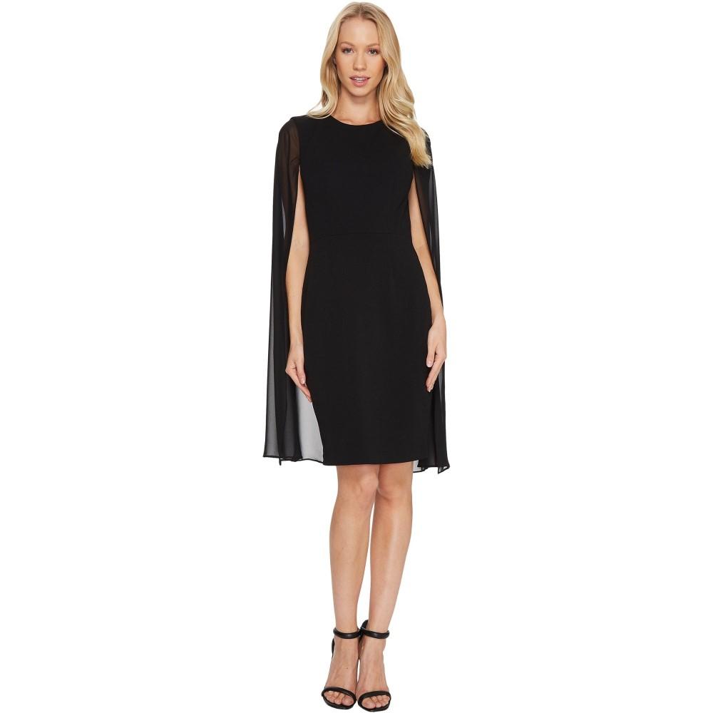 カルバンクライン レディース ワンピース・ドレス ワンピース【Sheath Dress with Cape CD6B114C】Black