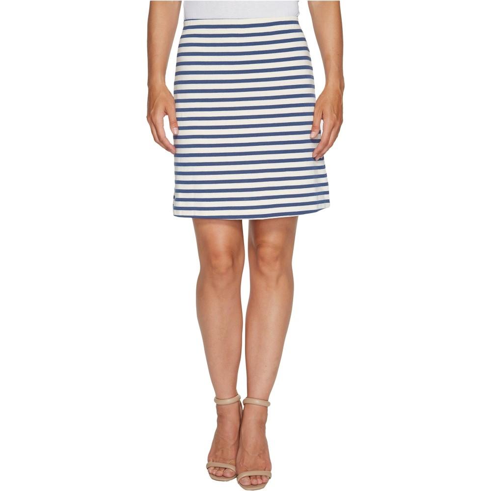 スリードッツ レディース スカート ミニスカート【Breton Stripe Mini Skirt】Cadet/Cream
