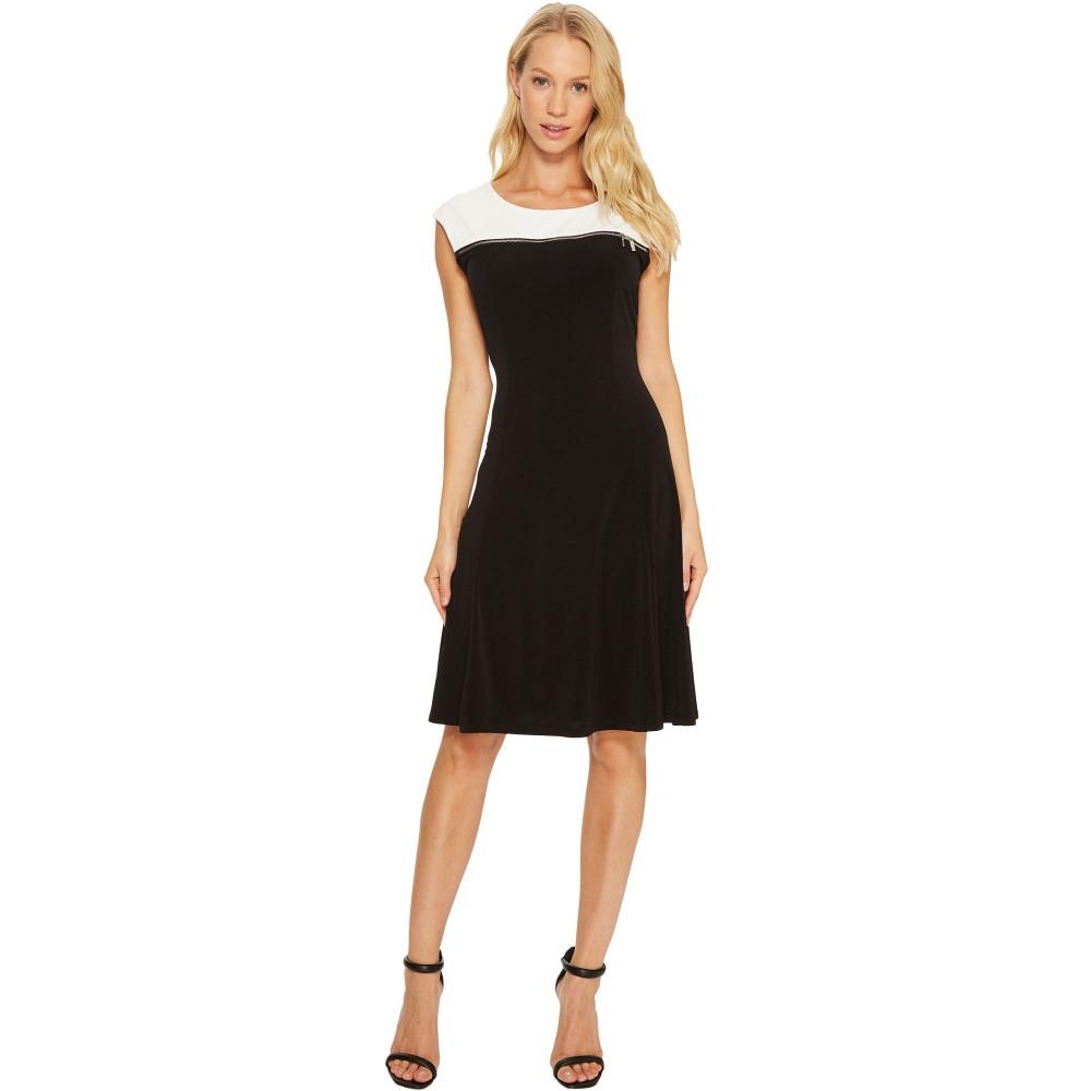 カルバンクライン レディース ワンピース・ドレス ワンピース【Sleeveless Dress with Zipper Yoke】Black