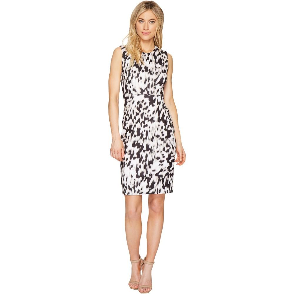 カルバンクライン レディース ワンピース・ドレス ワンピース【Printed Sheath Dress】Latte/Soft White Combo