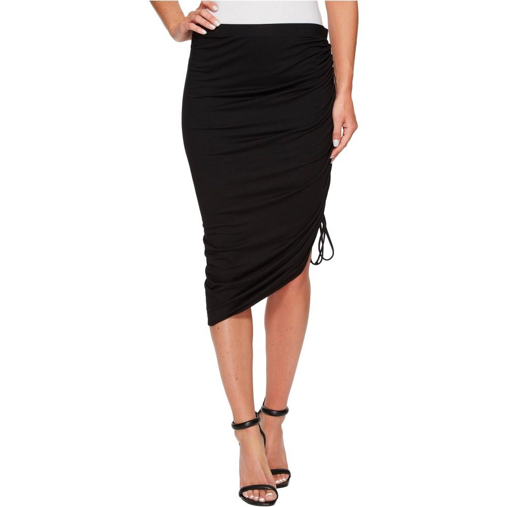 スリードッツ レディース スカート【Classic Jersey Skirt w/ Side Ruffle】Black