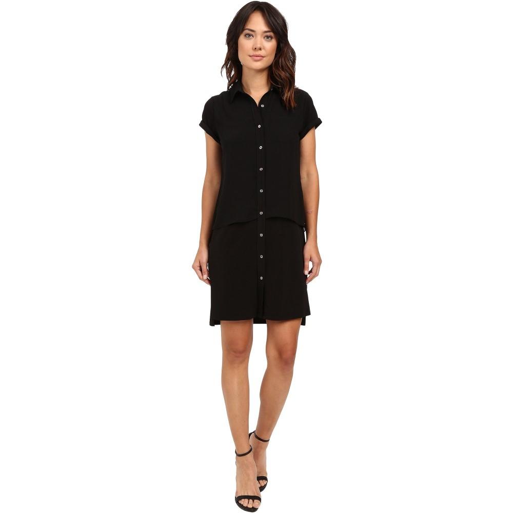 カルバンクライン レディース ワンピース・ドレス ワンピース【Double Layer Dress】Black