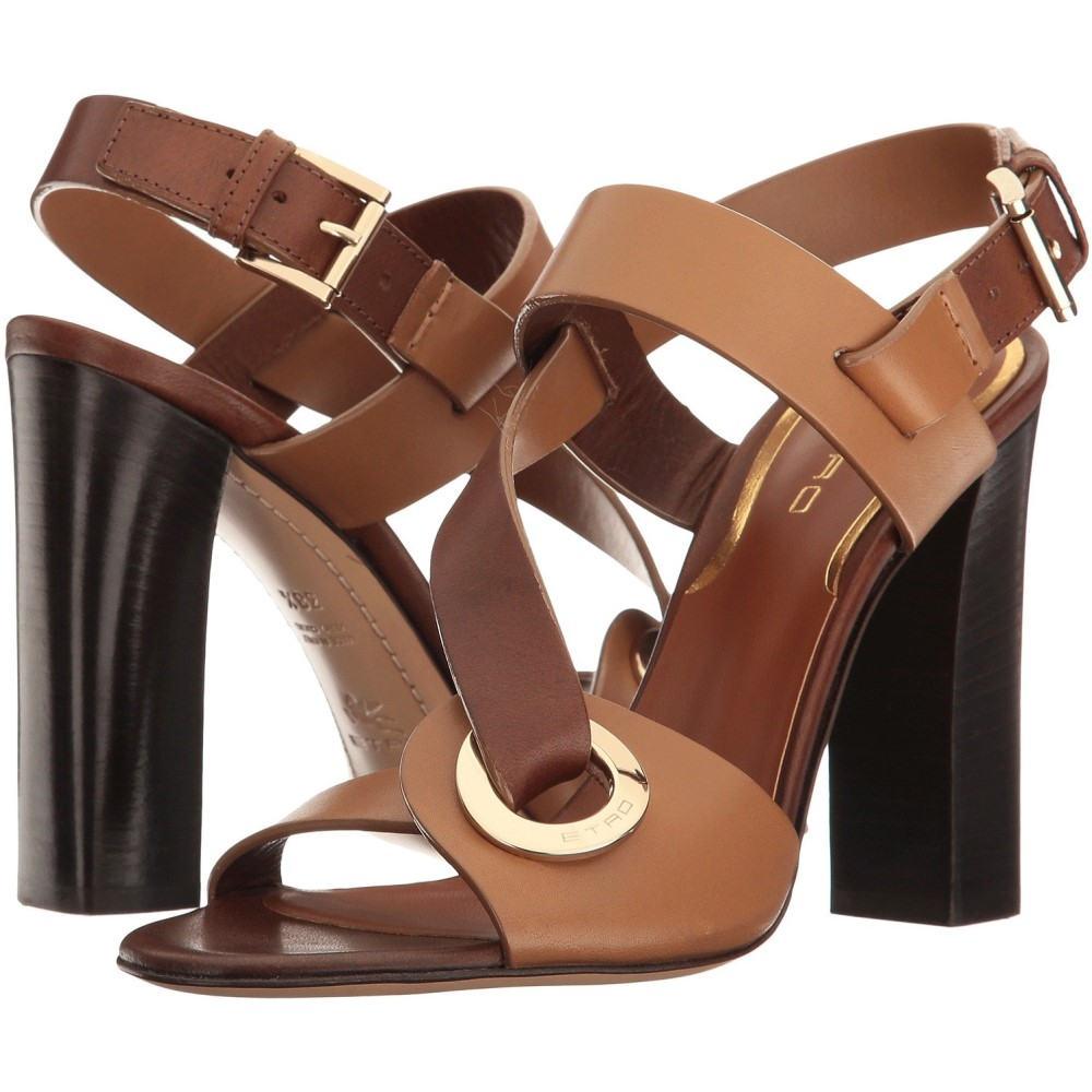 エトロ レディース シューズ・靴 サンダル・ミュール【O-Ring Heeled Sandal】Brown
