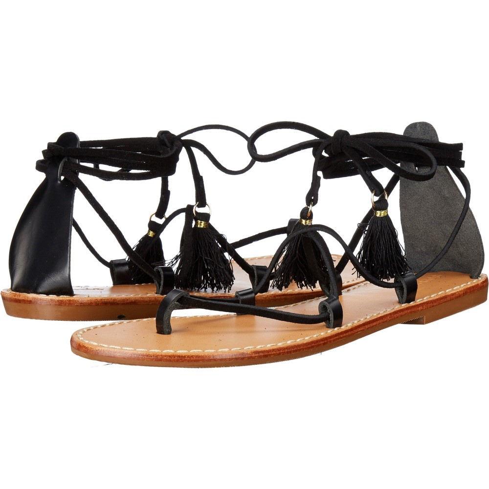 ソルドス レディース シューズ・靴 サンダル・ミュール【Gladiator Lace-Up Sandal】Black Leather