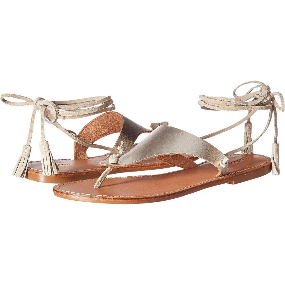 ソルドス レディース シューズ・靴 ビーチサンダル【Thong Gladiator Flat Sandal】Platinum Leather