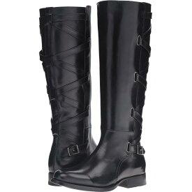 フライ レディース シューズ・靴 ブーツ【Jordan Strappy Tall】Black Smooth Veg Calf