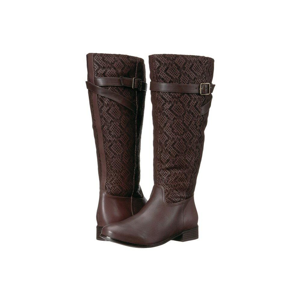 トロッターズ レディース シューズ・靴 ブーツ【Lyra Wide Calf】Dark Brown Embossed Snake/Leather