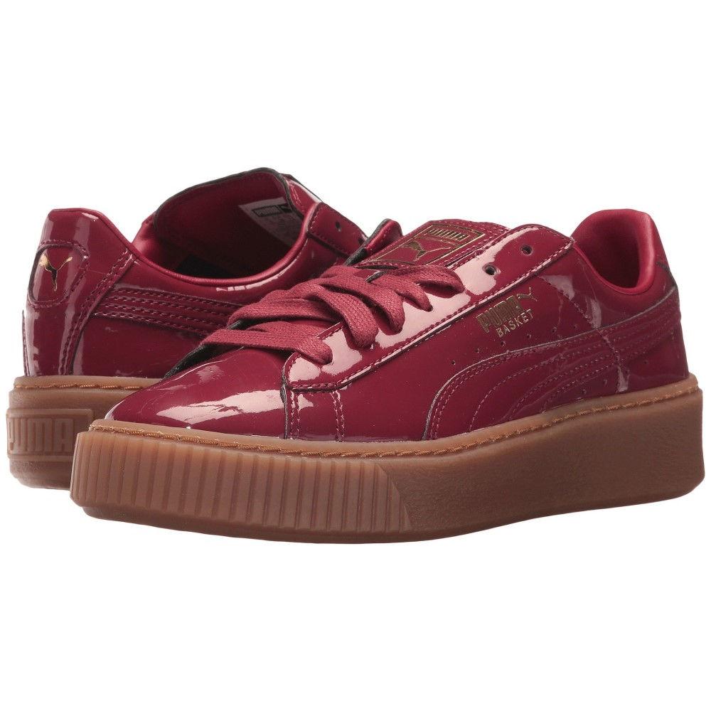 プーマ レディース シューズ・靴 スニーカー【Basket Platform Patent】Tibetan Red/Tibetan Red