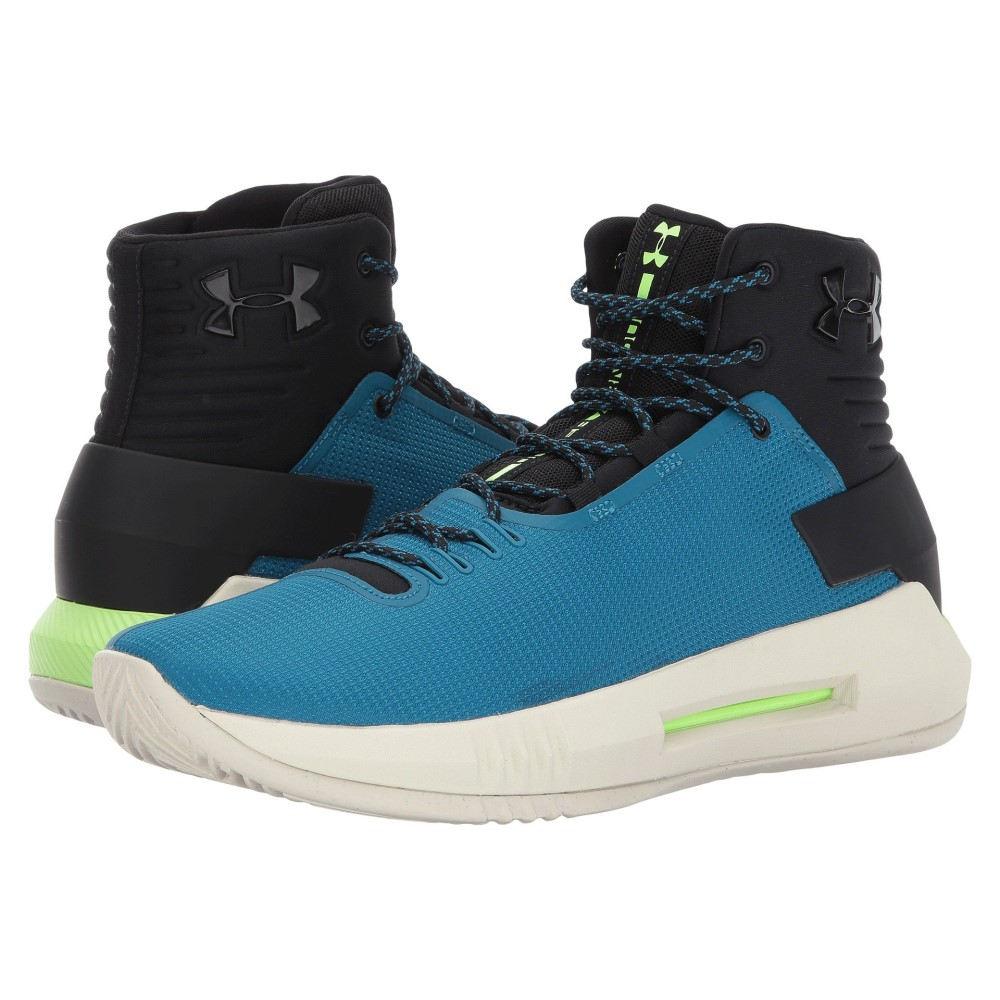 アンダーアーマー メンズ シューズ・靴 スニーカー【UA Drive 4】Black/Bayou Blue/Quirky Lime