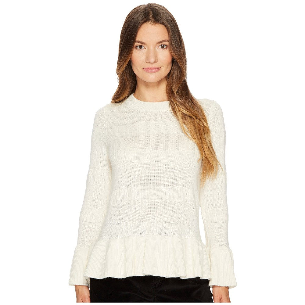 ケイト スペード レディース トップス ニット・セーター【Textured Bell Sleeve Sweater】Cream