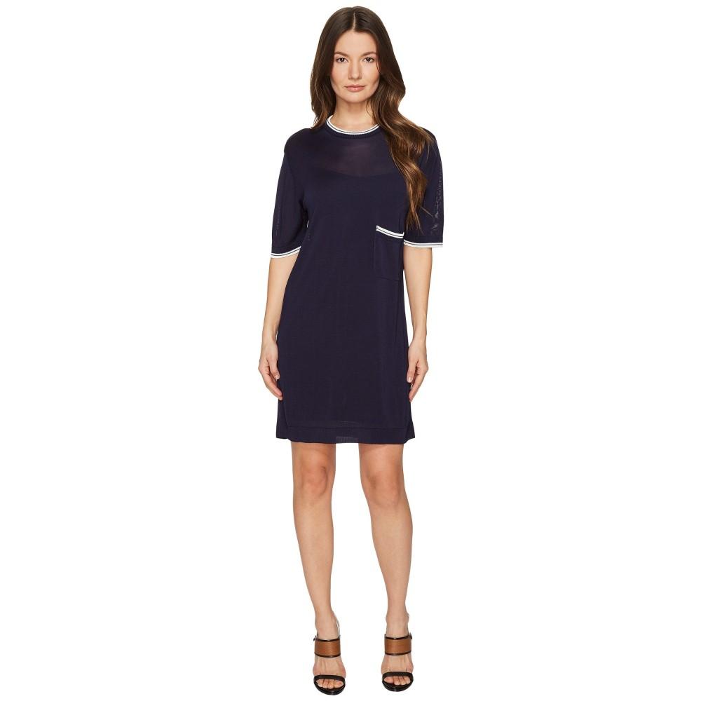 ディースクエアード レディース ワンピース・ドレス ワンピース【Skin Hibird Short Sleeve Dress】Navy/Blue