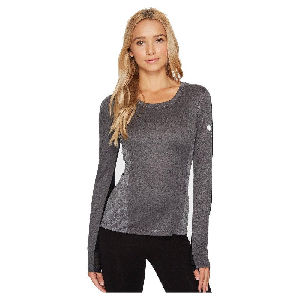 アシックス レディース トップス 長袖Tシャツ【Lite-Show Favorite Long Sleeve】Dark Grey Heather
