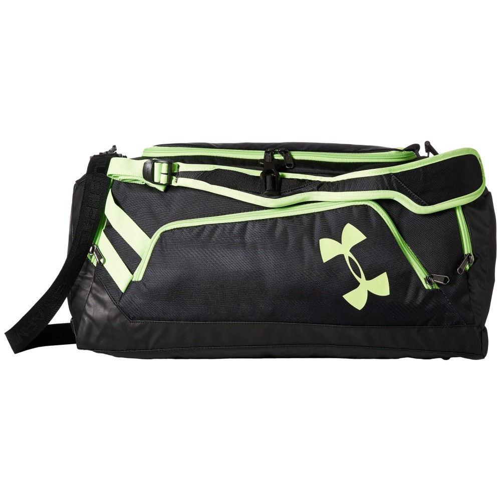 アンダーアーマー メンズ バッグ ボストンバッグ・ダッフルバッグ【UA Contain Duo Backpack/Duffel】Black/Black/Quirky Lime