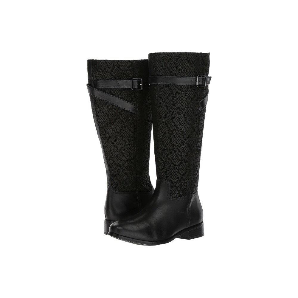 トロッターズ レディース シューズ・靴 ブーツ【Lyra Wide Calf】Black Embossed Snake/Leather