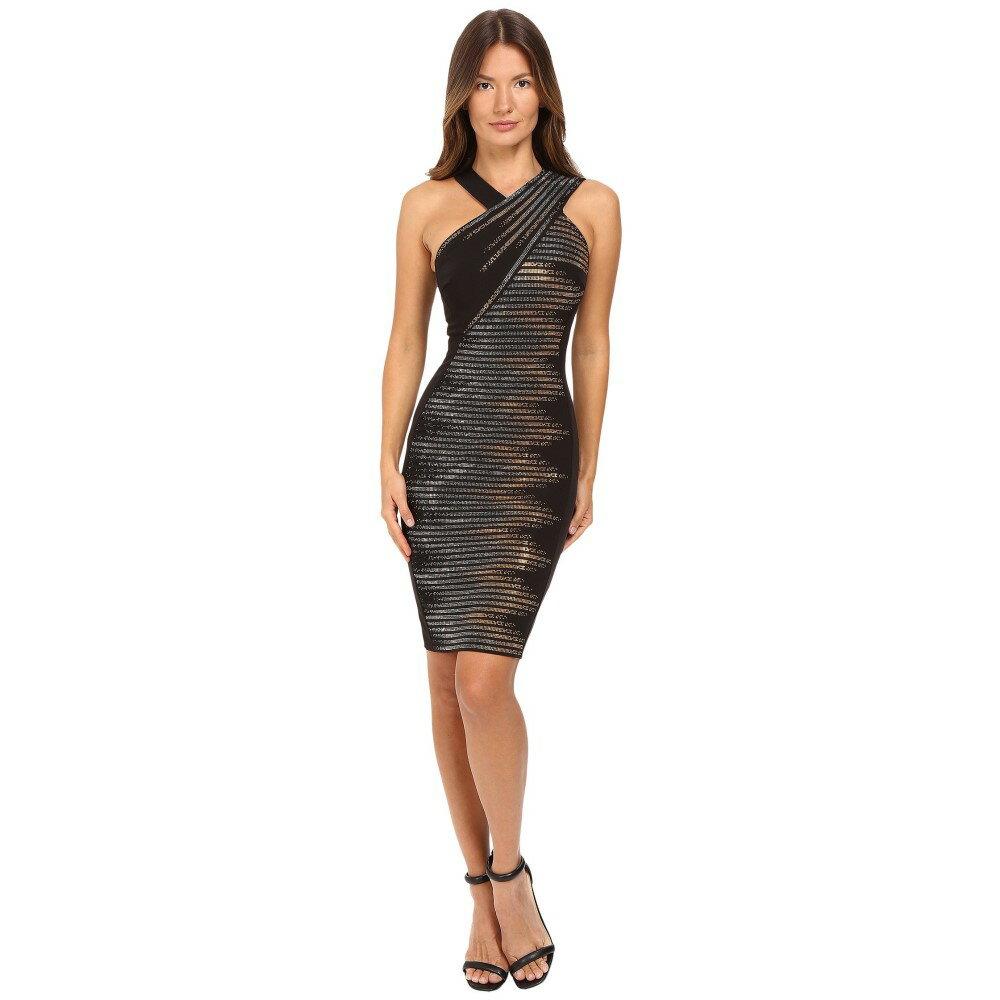 ヴェルサーチ レディース ワンピース・ドレス ワンピース【Sleeveless Embellished Dress】Nero/Oro