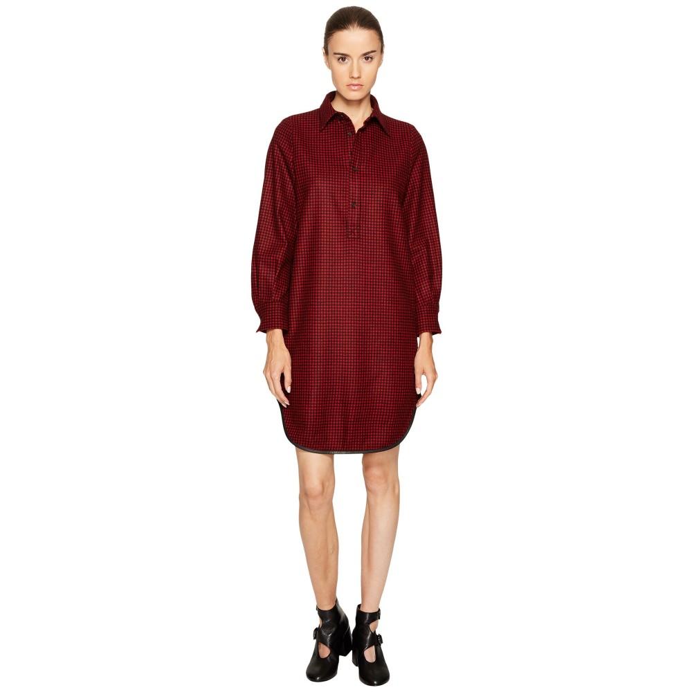 ディースクエアード レディース ワンピース・ドレス ワンピース【Mini Check Wool Micro Check Shirtdress】Red/Black