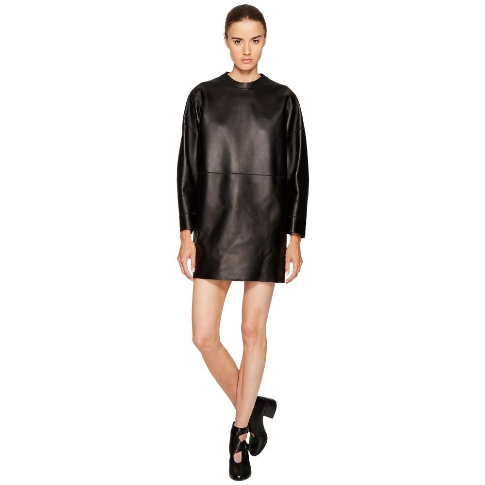 ディースクエアード レディース ワンピース・ドレス ワンピース【Boned Leather Dress】Black