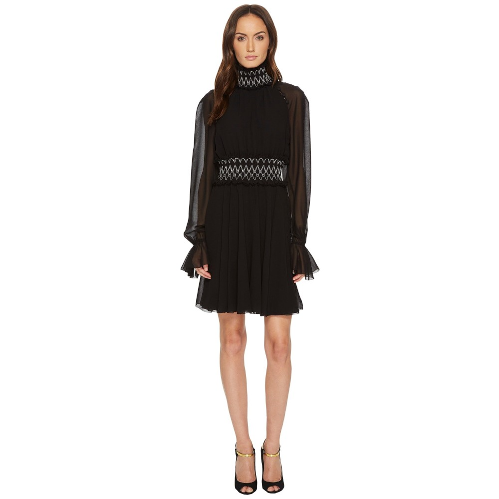 ヴェルサーチ レディース ワンピース・ドレス ワンピース【Long Sleeve Pergamena Dress】Black