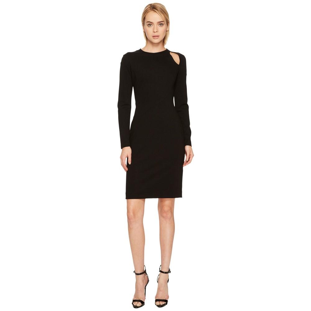 ヴェルサーチ レディース ワンピース・ドレス ワンピース【Long Sleeve Cut Out Jersey Dress】Black