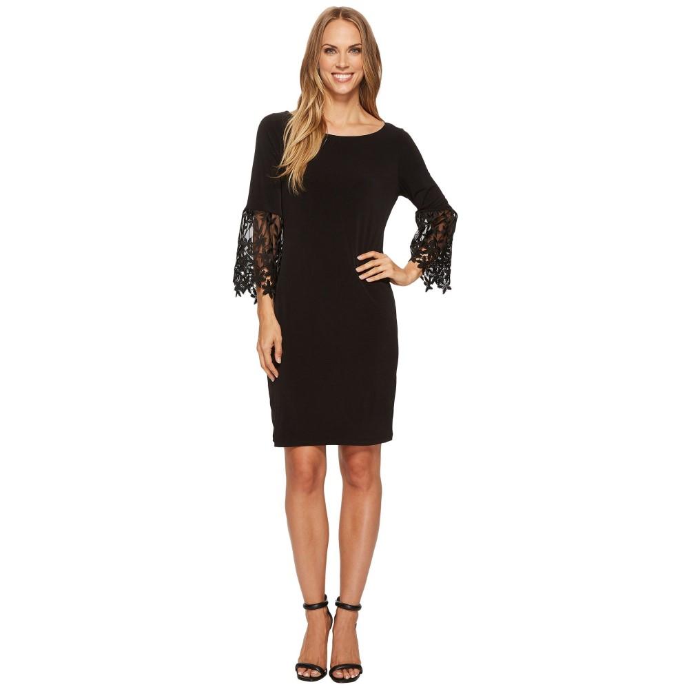 イヴァンカ トランプ レディース ワンピース・ドレス ワンピース【Matte Jersey Bell Sleeve Dress】Black